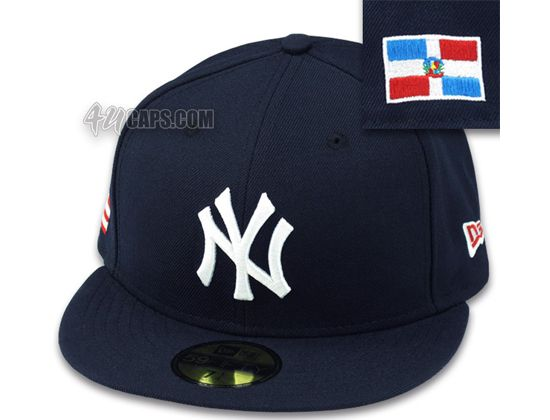 17c80fb96e66a New York Yankees Dominican Republic Flag 59Fifty Fitted Baseball Cap by NEW  ERA x MLB