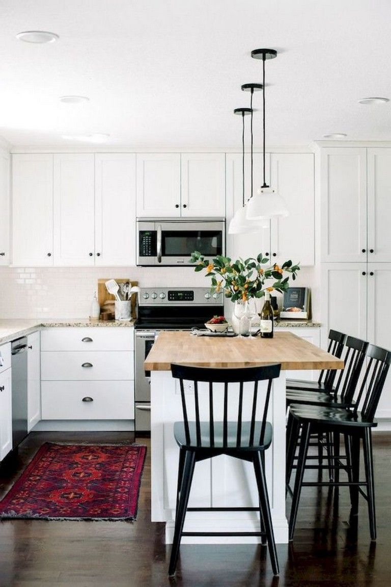 70 good staylish black white wood kitchen ideas kitchen kitchen rh pinterest com