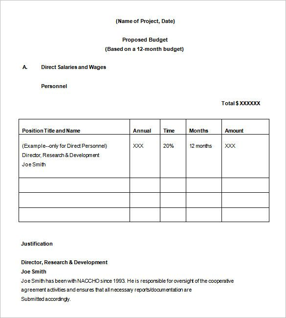Sample Non Profit Budget Office Budget Proposal Format Free Office
