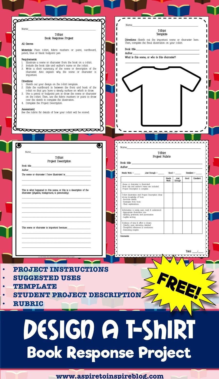 Shirt design rubric - Free Design A T Shirt Book Reponse Project
