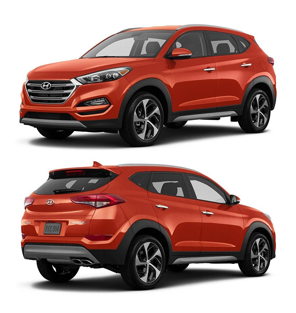 Hyundai Tucson, 2017 US model in Sedona Sunset paint