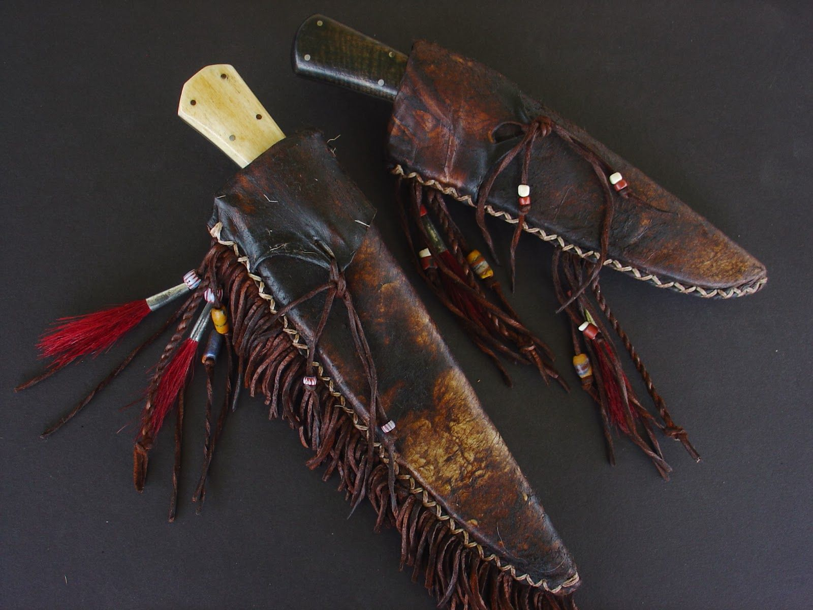 Rich McDonald Knives with Jeanne McDonald Sheaths (With