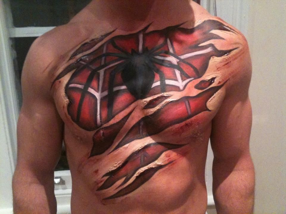 London Body Painting Co\'s Spider-Man costume | Life | Pinterest ...