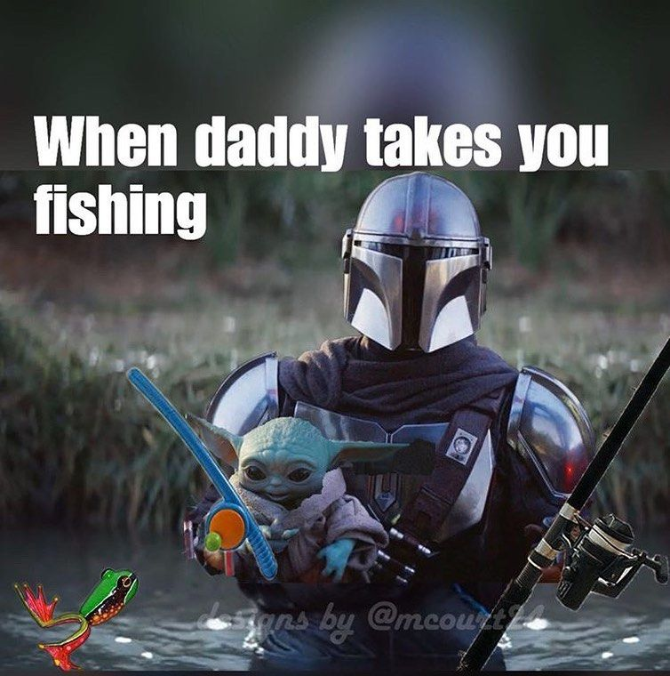 2 085 Likes 18 Comments The Mandalorian Themandalorianmemes On Instagram Fishing Time Credit Mcourt24 Yoda Meme Star Wars Memes Star Wars Pictures