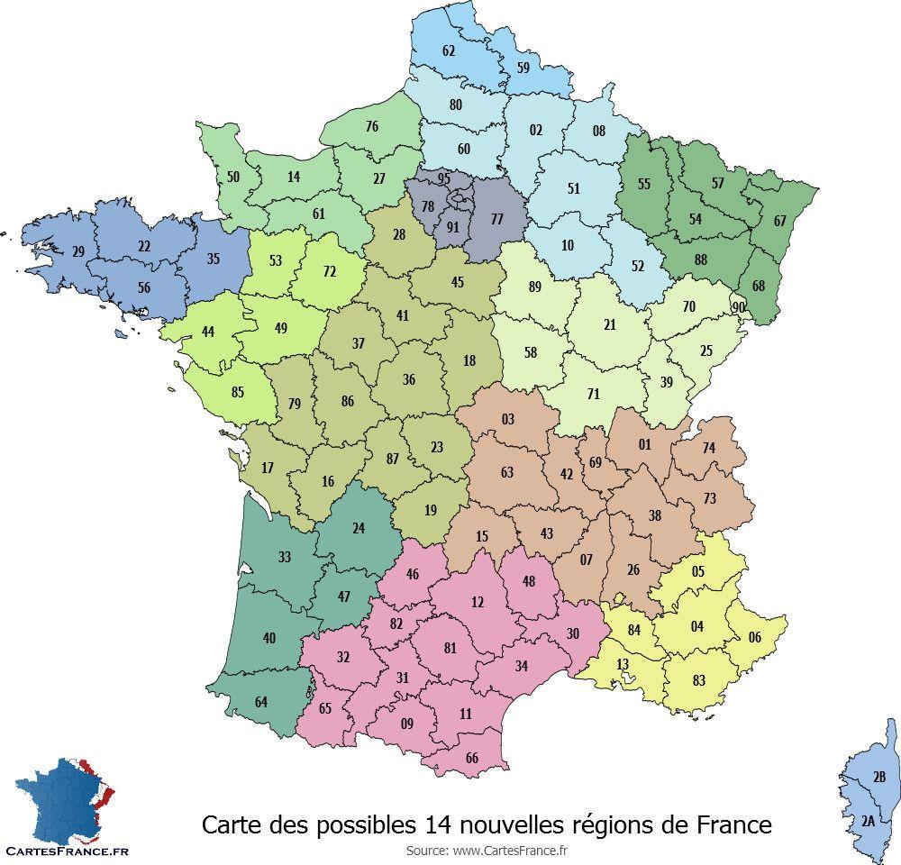 Organisation Du Territoire De Nos Jours En Departement Carte Des