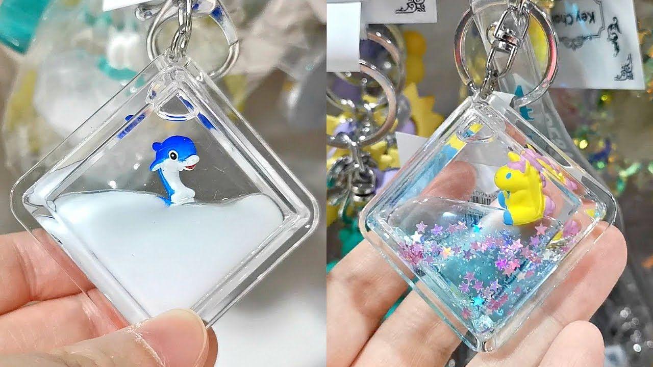 Water Filled Charm Keychain At Mr Diy Diy Keychain Keychain Diy Phone