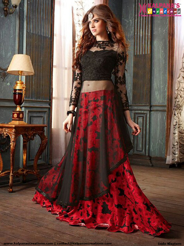 1a531bb4e2 Indo Western Lehenga Choli. Indo Western Lehenga Choli Red Salwar Suit,  Indian ...