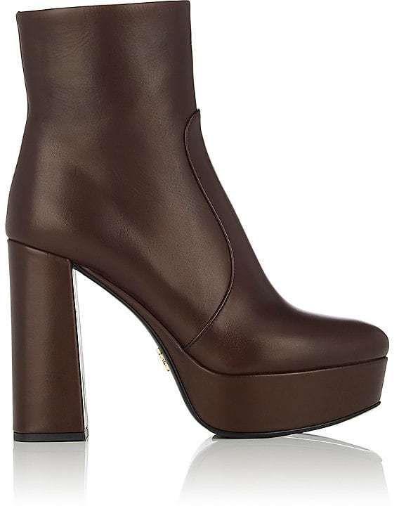 582426cf712f Prada Women s Leather Platform Ankle Boots