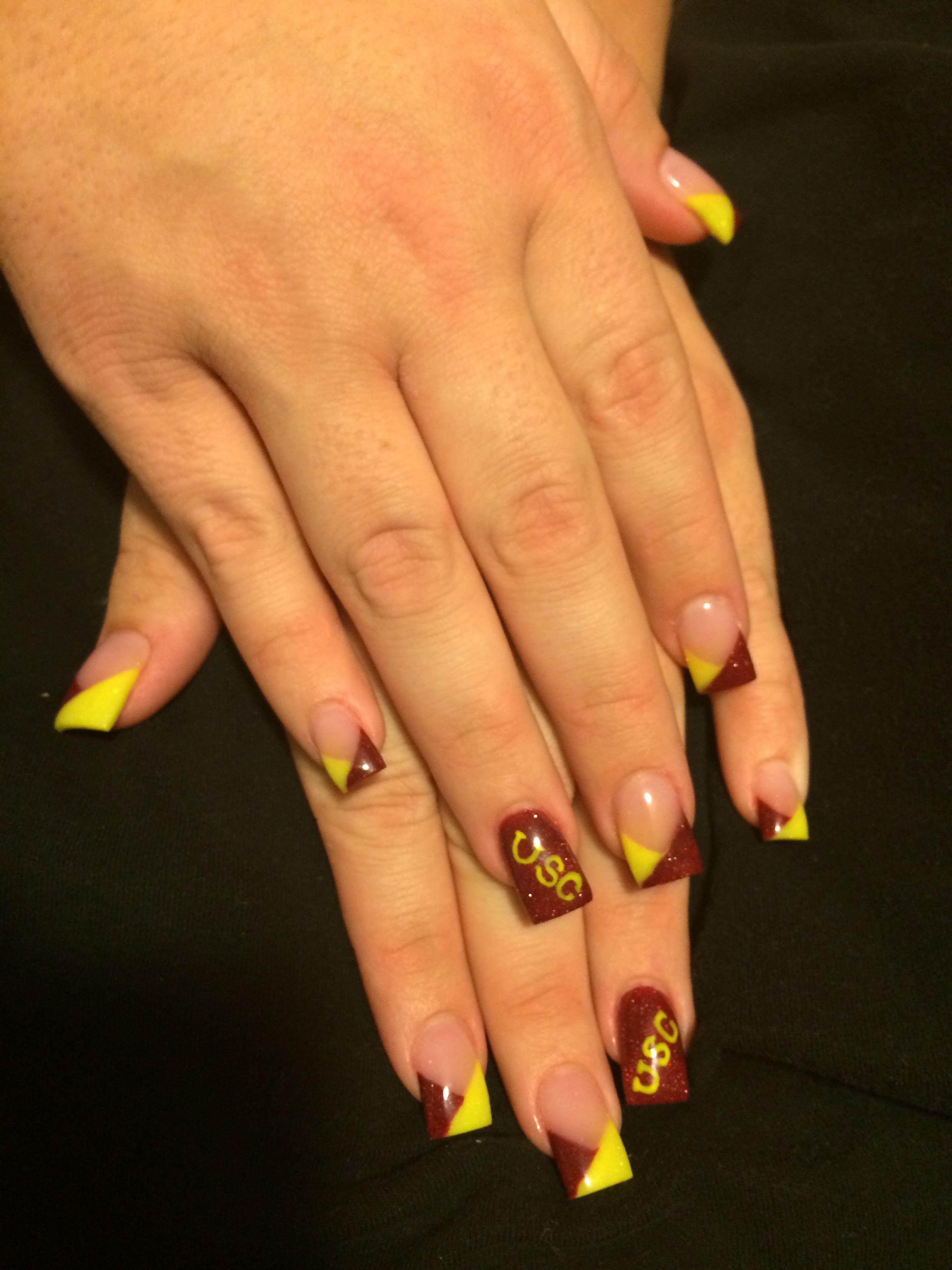 Amazing Usc Nail Art Frieze - Nail Art Ideas - morihati.com
