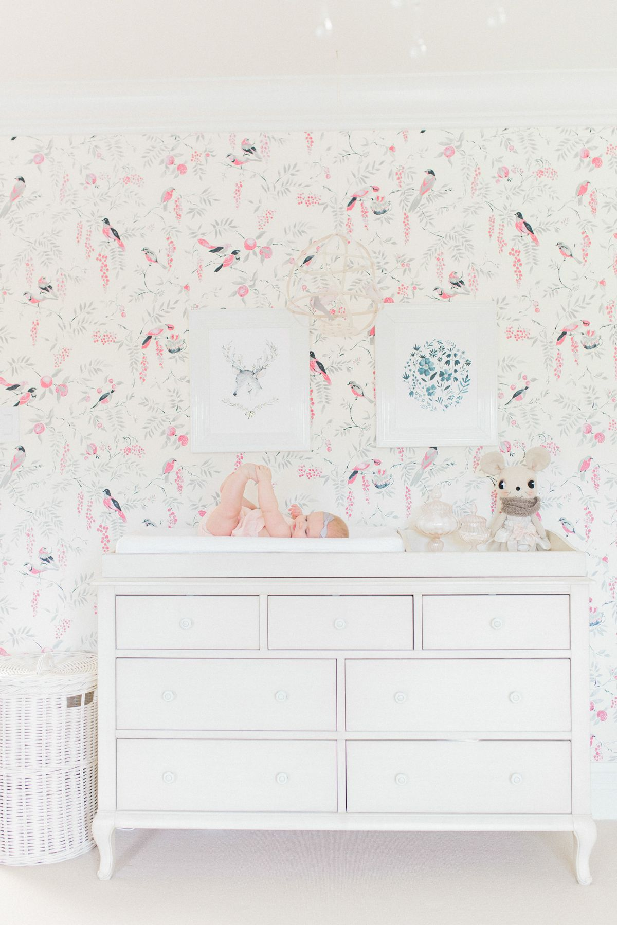 Juniper S Vintagey Bird Wallpaper Nursery Nursery