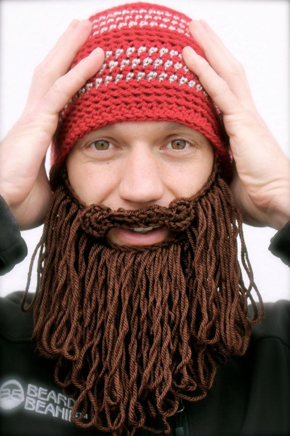 6b9f19282ef long beard hat crochet mens toque The Original Beard Beanie™ shaggy ...
