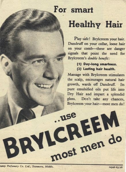 1950 brillcream images | 1950 Brylcreem Advert - Vintage ...