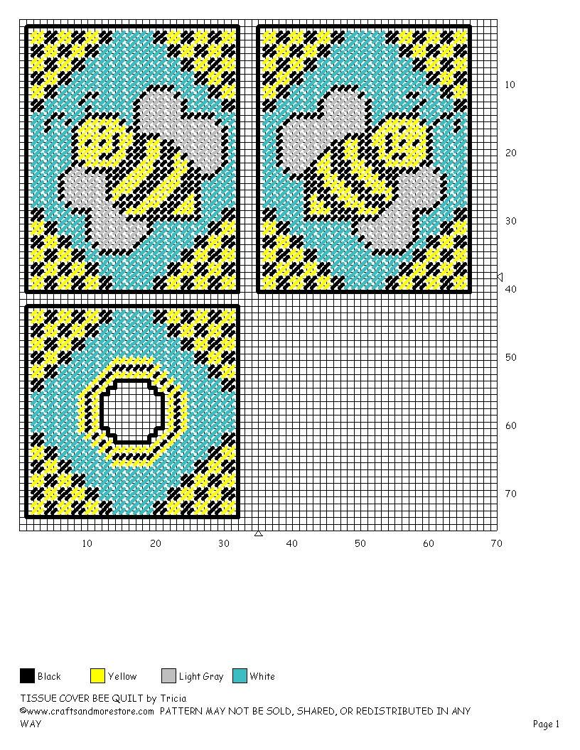 Tissue Cover - Bee Quilt Pattern | Skye ideas | Pinterest | Bees ...