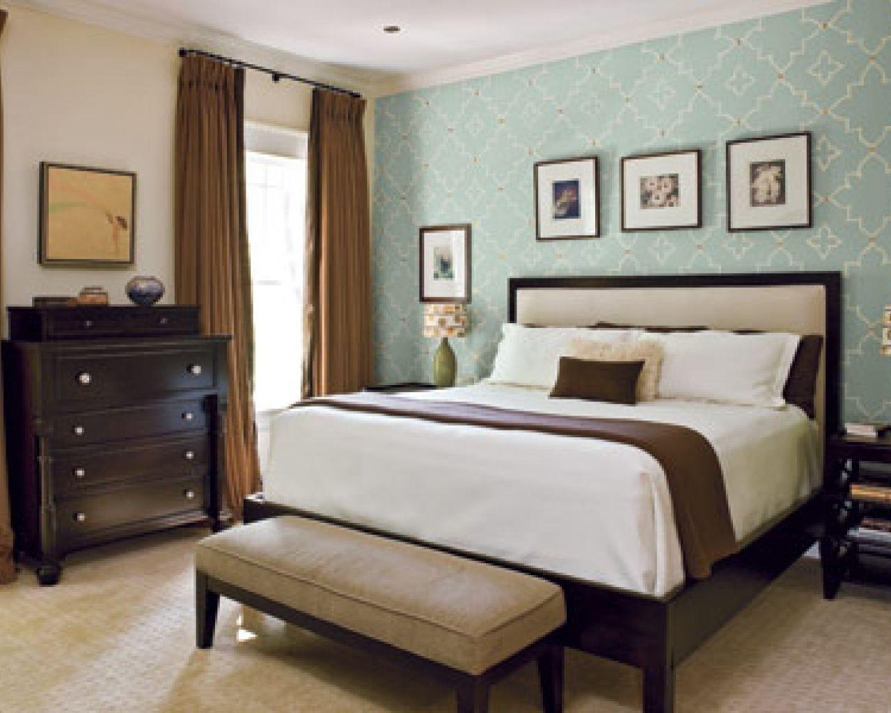 Schlafzimmer Akzent Zauberstab Farbe Ideen Mounted Braun Holz
