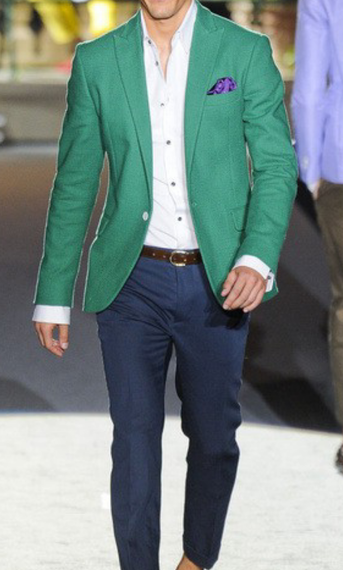 brave green blazer outfit mens 15