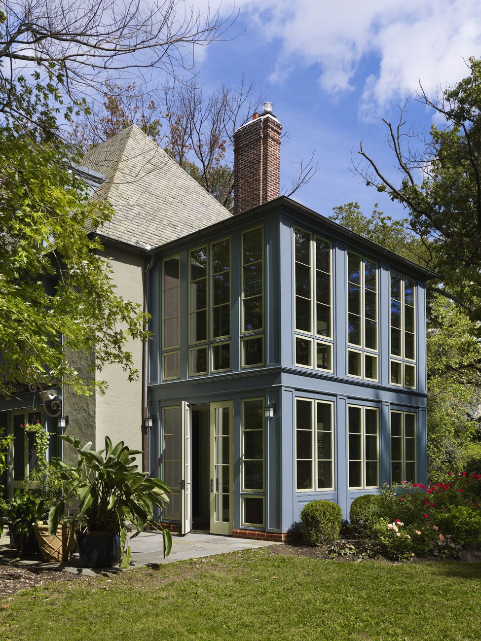 Home renovation in philadelphia by krieger associates for Two story sunroom additions