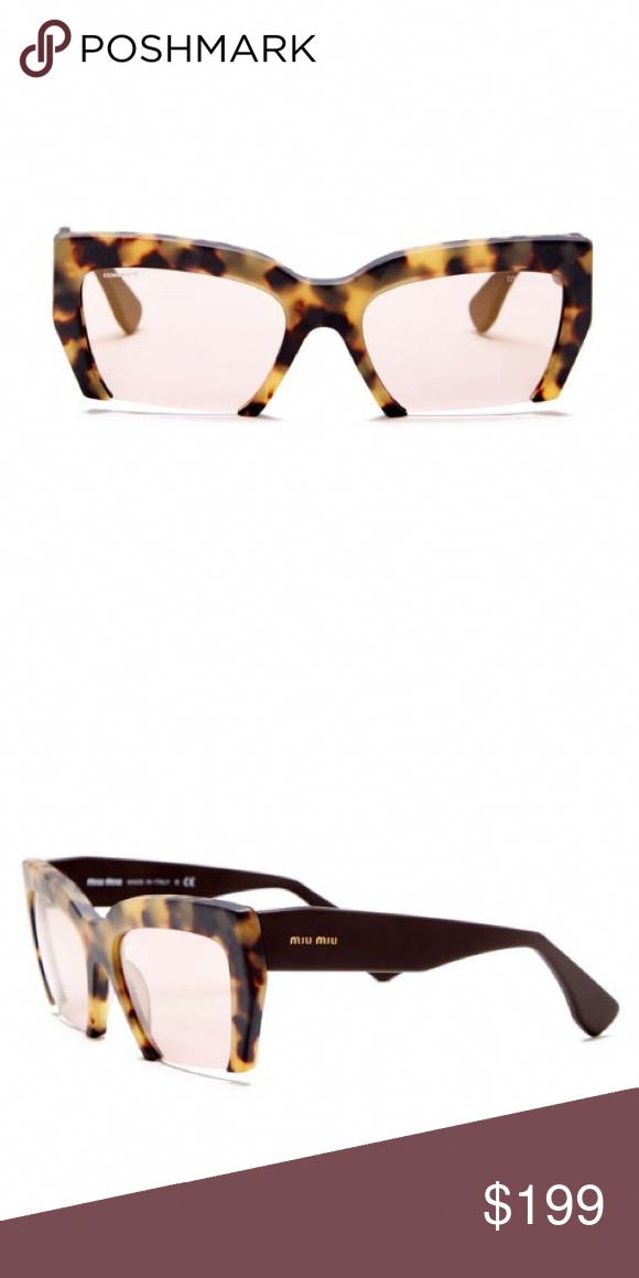 53cb80b5077e Miu Miu Rasior + Tortoise Half Rim Sunglasses Miu Miu Women s Rasior + Plus  Tortoise Half