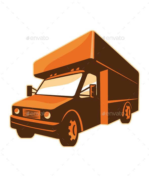 Retro Moving Truck Delivery Van With Images Moving Truck