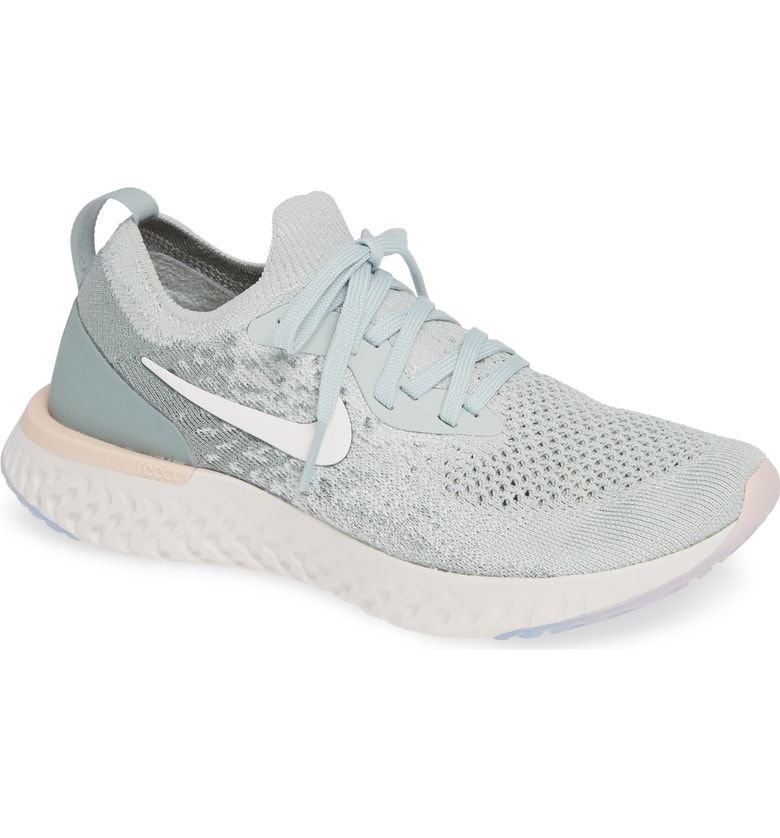 de40fd970fd Epic React Flyknit Running Shoe, Main, color, Light Silver/ Sail/ Mica Green