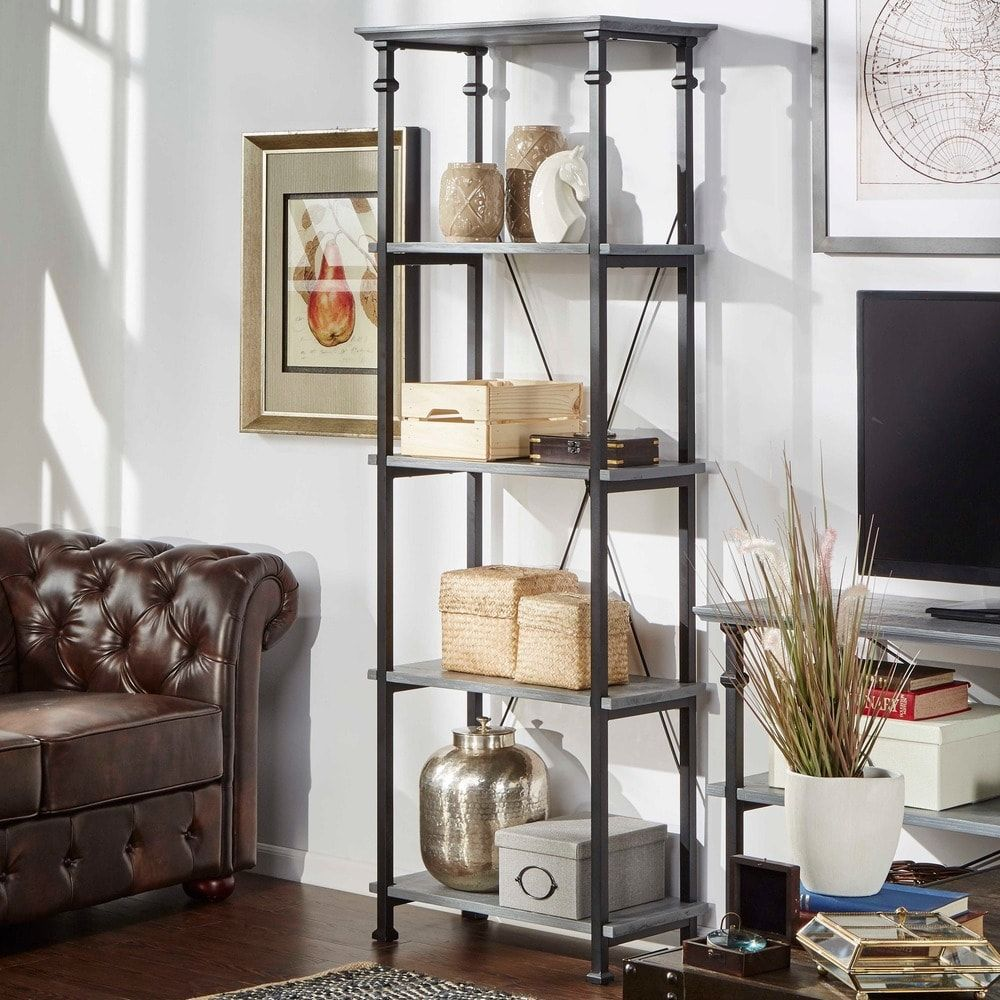 Myra Vintage Industrial Modern Rustic Bookcase by iNSPIRE Q Classic |  Overstock.com Shopping -