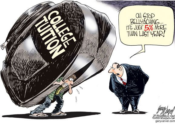 So True College Costs College Tuition Political Cartoons