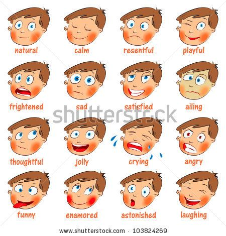 kids emotion faces | Emotions. Cartoon facial expressions ...