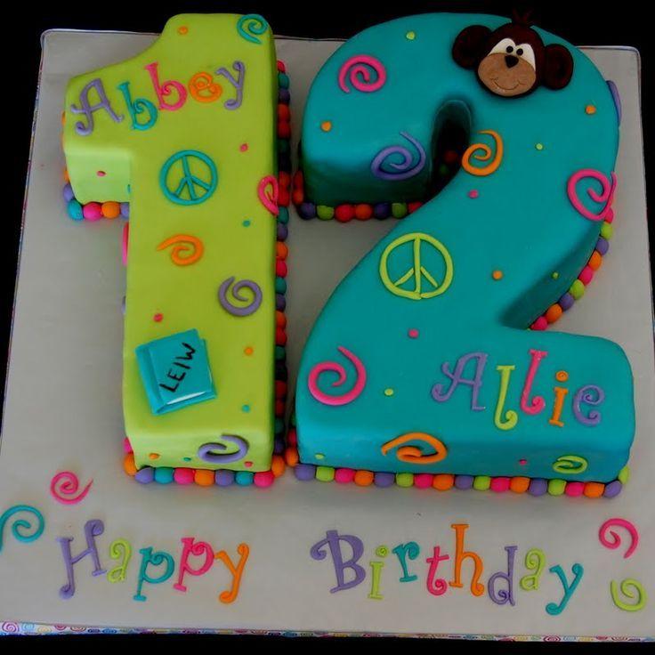 Birthday Cake for Girls 12th Ideas Kid Party Pinterest