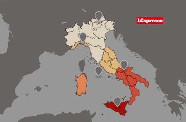 Cartina Italia 1810.La Mappa Della Poverta In Italia Mappa Italia Finanza