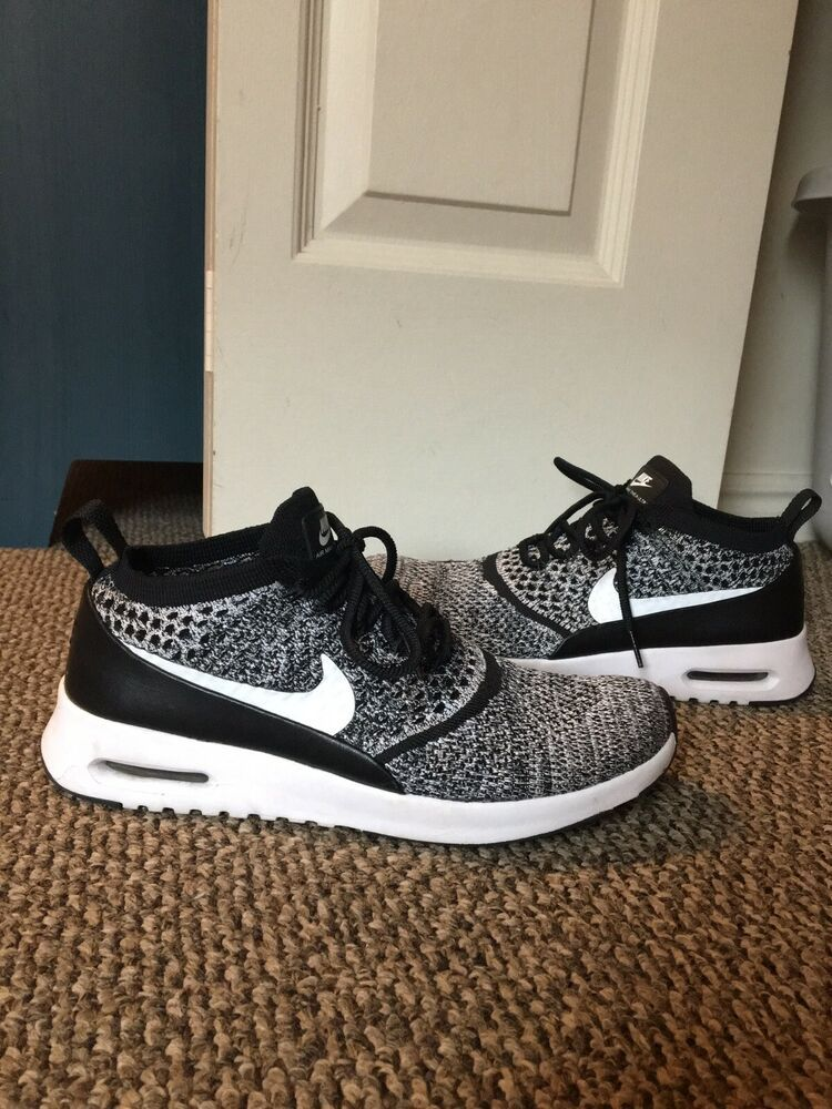 Nike Air Max Thea Ultra Flyknit Women's Black and White