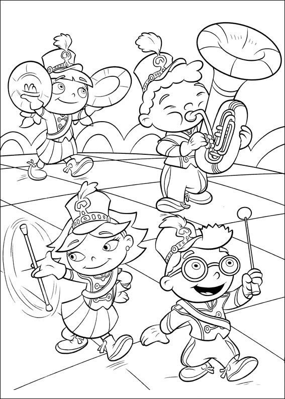 band coloring pages Little Einsteins Be A Marching Band | Little Einsteins Coloring  band coloring pages
