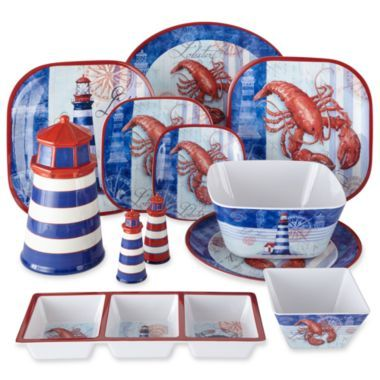 Lobster Melamine Dinnerware Collection found at @JCPenney