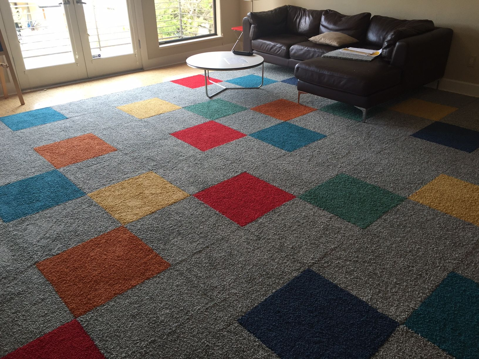 We Threw In Pops Of Color Literally Fun Plush Rug For This