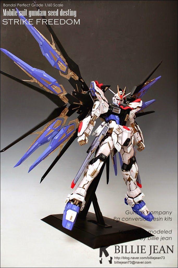 Pg 1 60 Strike Freedom Gundam Conversion Resin Kit Custom Build Gundam Custom Build Gundam Gundam Model