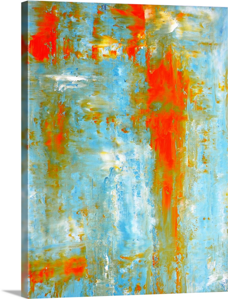 Teal And Orange Abstract Art Painting Blue Artwork Abstract Abstract Art Painting Abstract Teal and orange wall art