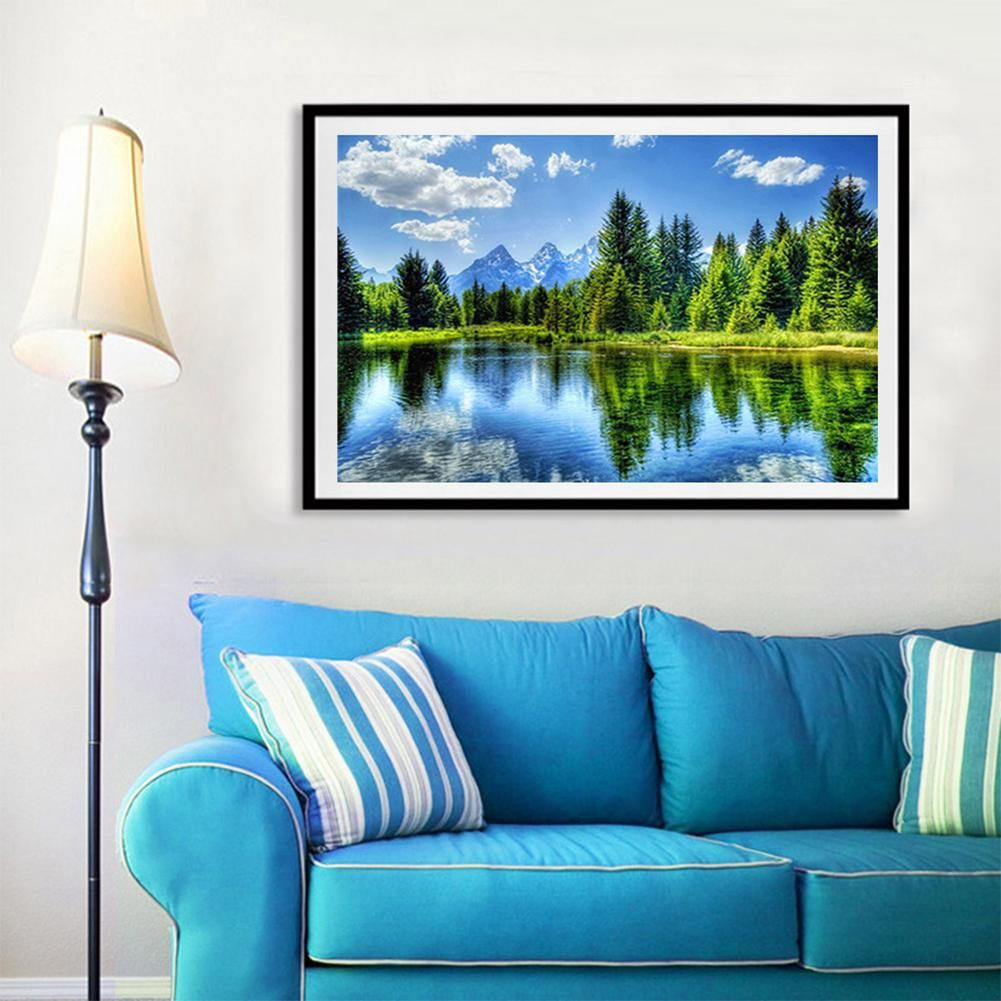 Photo of Landscape DIY 5D Full Diamond Wall Painting Cross Stitch Home Living Room  Decor – as the picture i