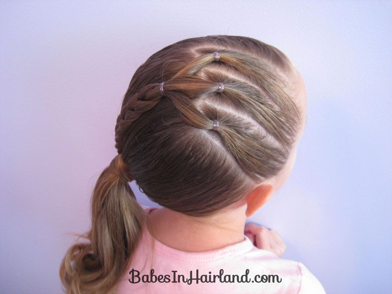 Ponytails And A Braid 12 Little Girl Hairstyles Girl Hairstyles Hair Styles
