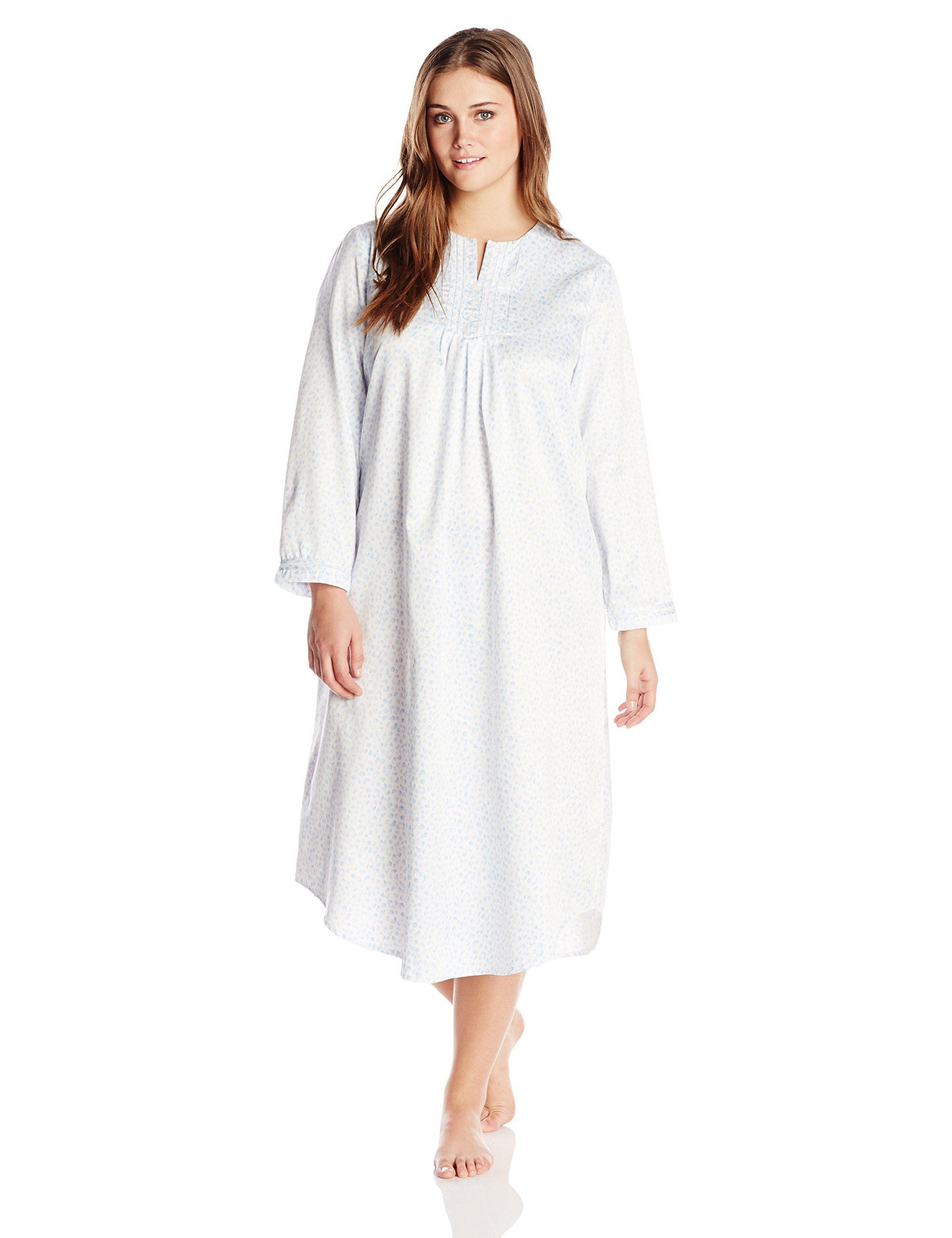 Carole Hochman Women\'s Plus-Size 50 Inch Long Sleeve Gown at Amazon ...