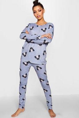 584f4765aaa Pug Print PJ Set | Pug Lyfe ❤ | Pugs, Pj sets, Pajamas women