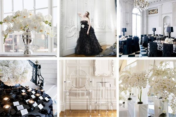 Black And White Wedding Tables Lucite Mirrored Tables And Lots Of