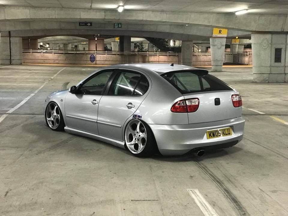 Slammed Silver Lcr Seat Leon Tuning Coches Tuneados Autos