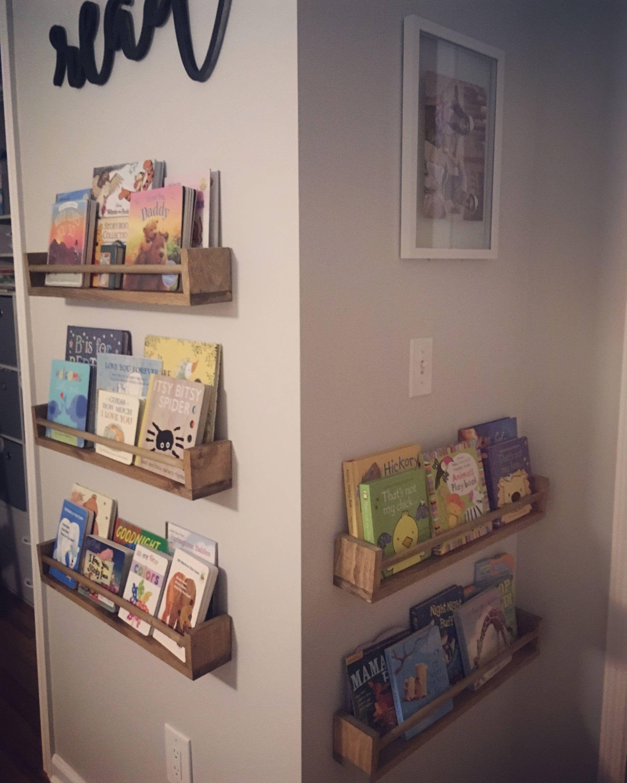 Nursery Bookshelf Nursery Shelves Children S Etsy Nursery