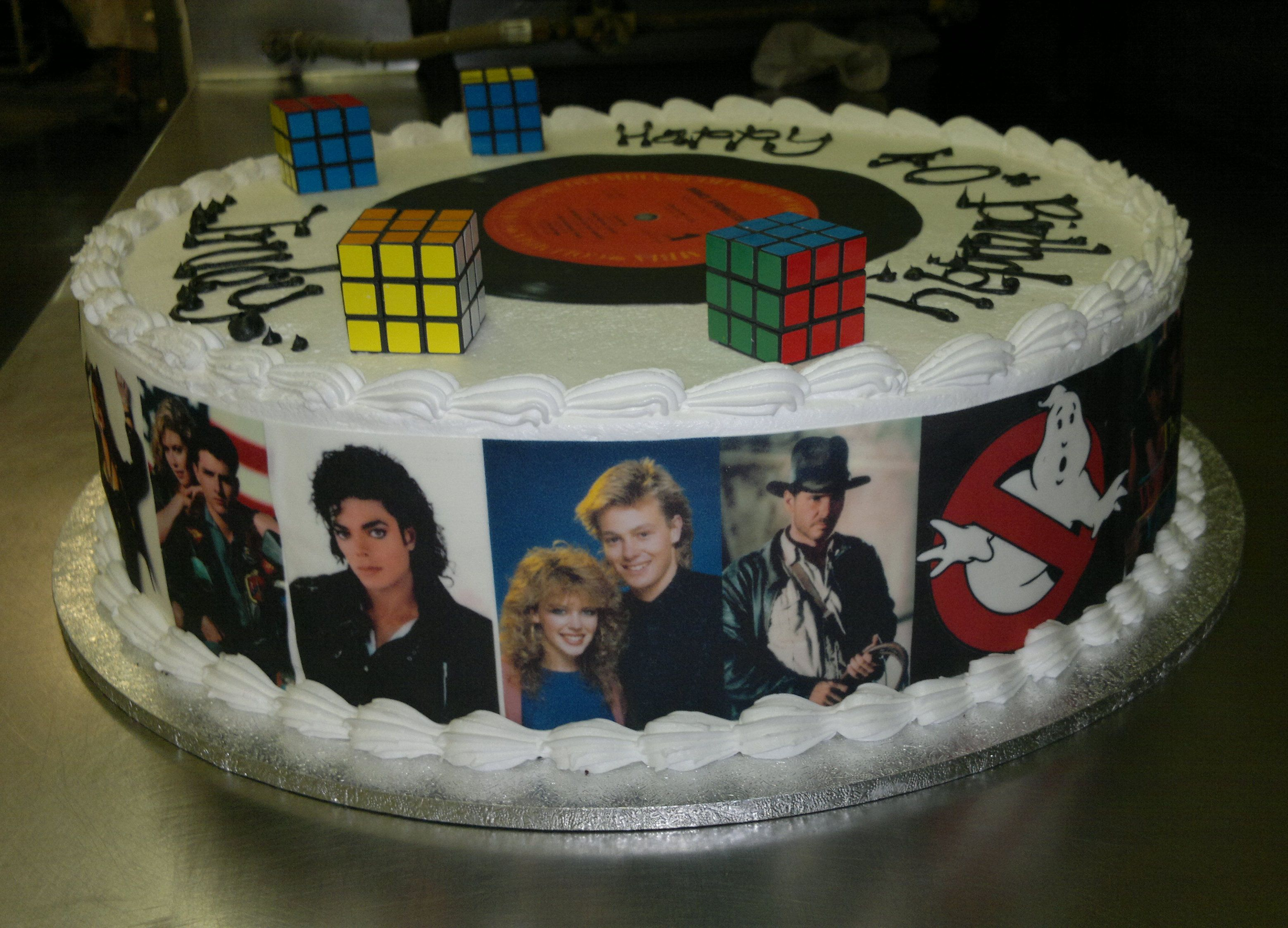 I love this simple idea for an 80s cake My Walmart told me they