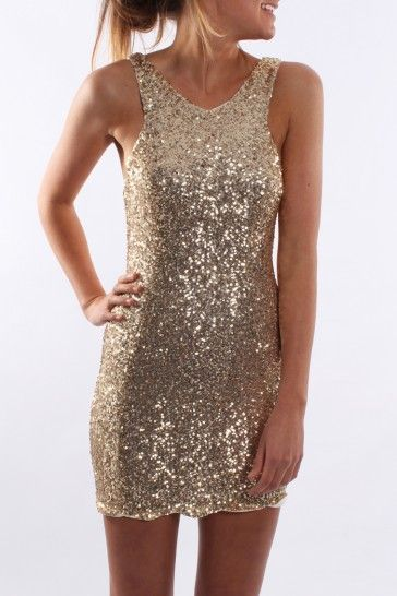 Night Life Dress Gold - Dresses - Shop by Product - Womens  74ea531866