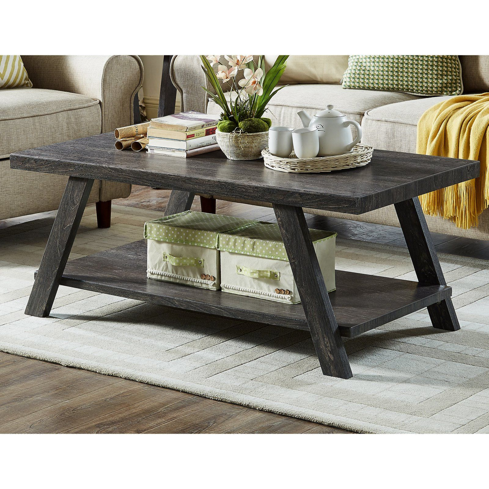 Roundhill Furniture Athens Contemporary Replicated Wood Shelf Coffee Table In 2021 Coffee Table Distressed Wood Coffee Table Wood Shelves [ 1600 x 1600 Pixel ]