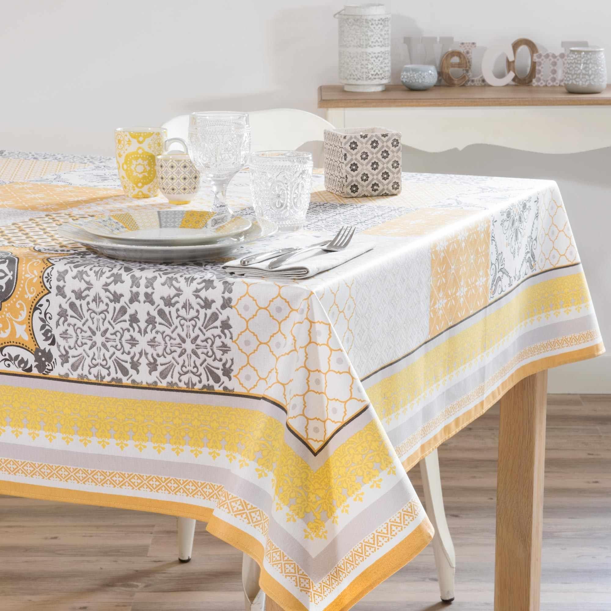 nappe et serviette de table  maison du monde nappe