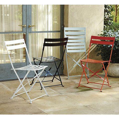 Café Folding Chairs Set Of 2 Ballard Designs Outdoor Dining Chairs Folding Chair Outdoor Furniture