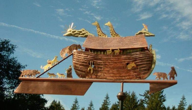 Noah's Ark Weathervane Optional Gold Leafing in 2020