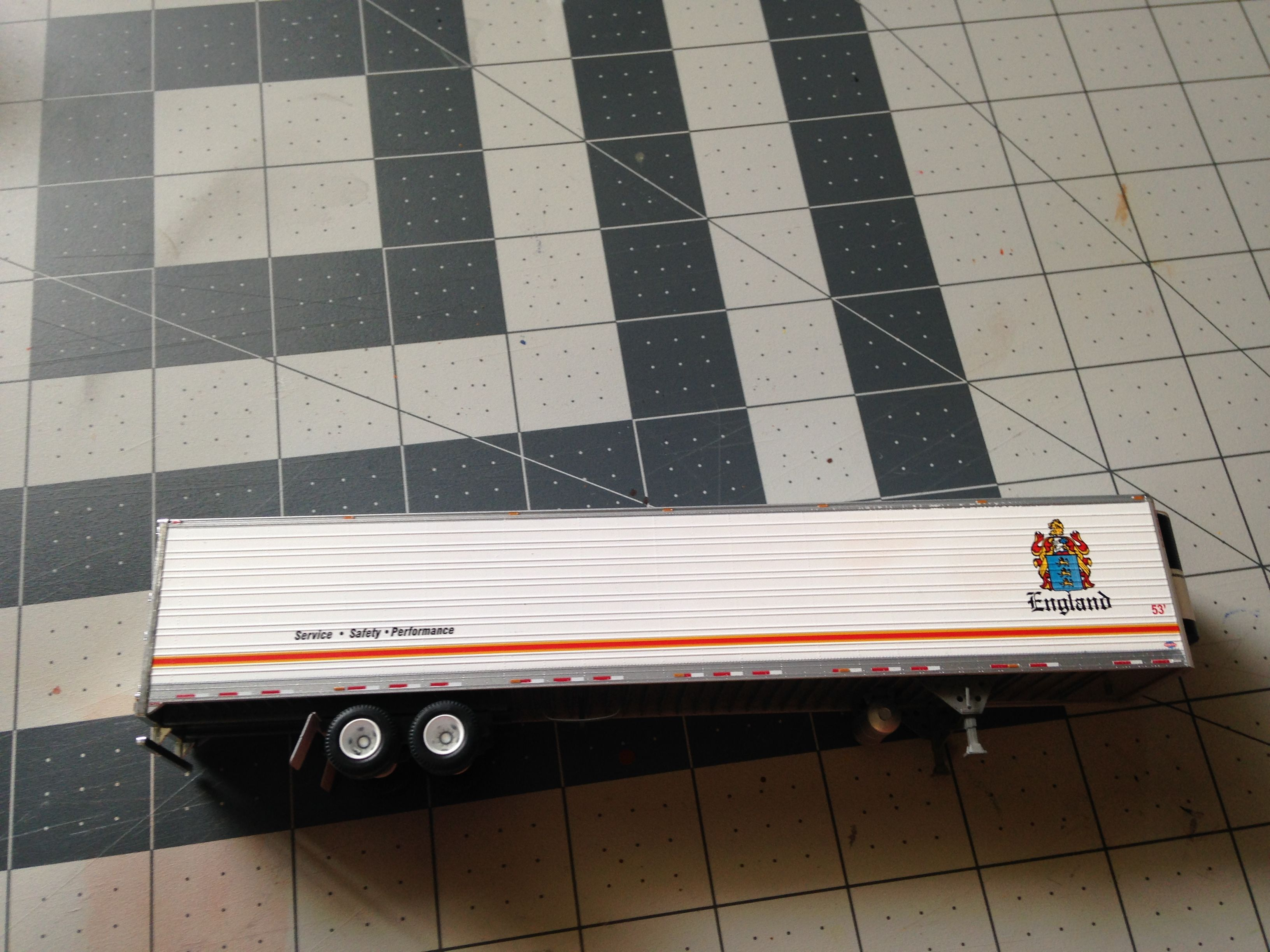 Athearn 53 Ft Reefer Trailer Rental Company