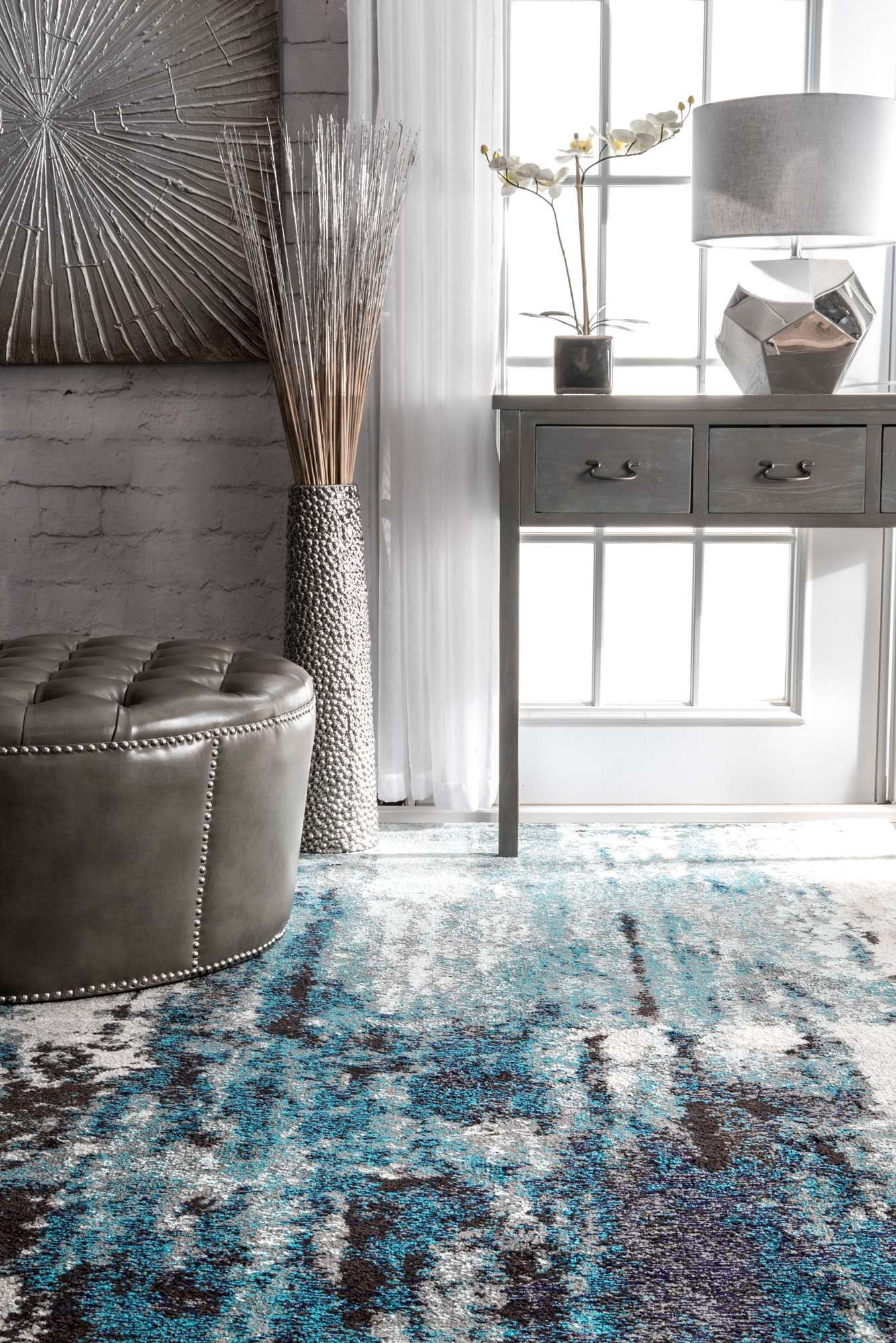 Albinacr22 Winter Abstract Rug Rugs In Living Room Large Living
