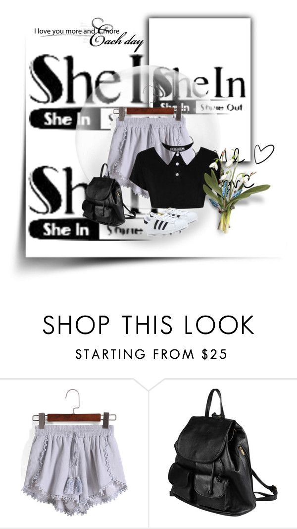 """""""#SheIn"""" by fashion-is-my-life-1 ❤ liked on Polyvore featuring moda, PARENTESI y adidas"""